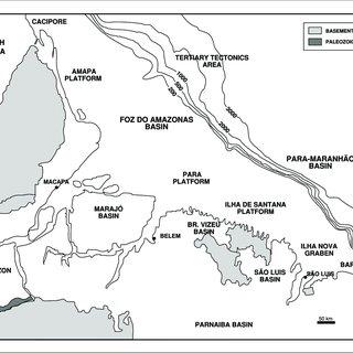 Stratigraphic chart of the Foz do Amazonas Basin (modified