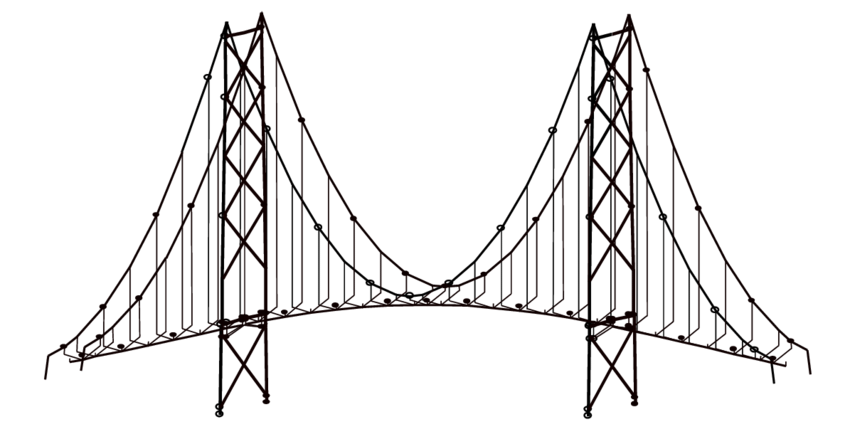 A FEM model of Akashi-Kaikyo Bridge (cable suspended