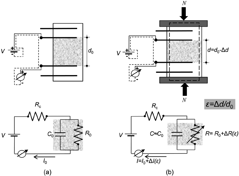 Schematic of the proposed electromechanical model of a