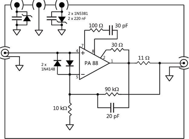 Range extender amplifier schematics, based on Apex mod
