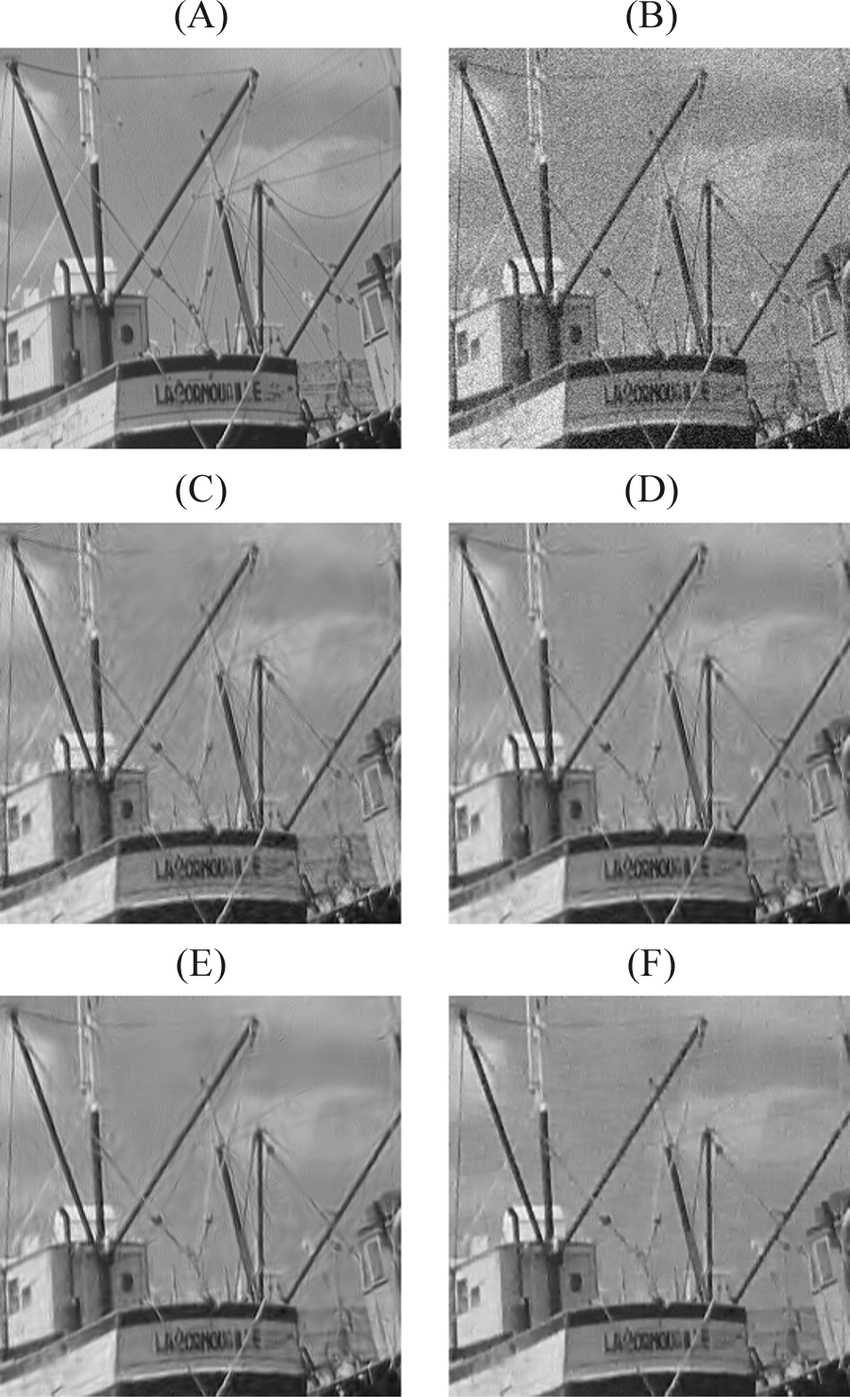 medium resolution of  a part of the noise free boat image b a