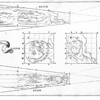 Lights and shadows, original examples of anamorphosis that