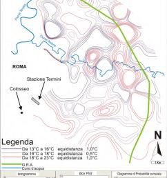 carta semplificata delle isolinee di temperatura c delle acque sotterranee e statistica descrittiva [ 850 x 1221 Pixel ]