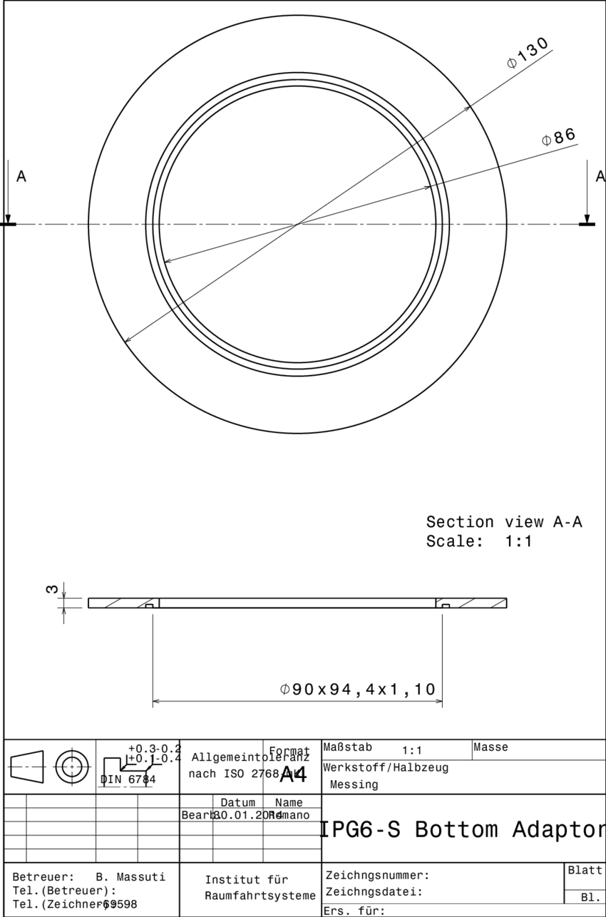 hight resolution of 5 adapter for the connection of the bottom flange to the vacuum chamber