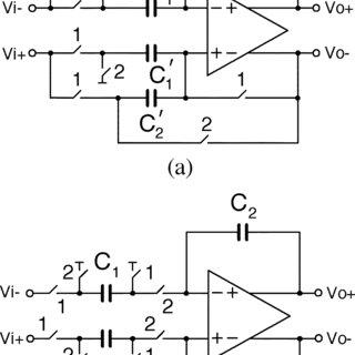Conventional circuits. (a) SC amplifier. (b) SC integrator