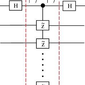 (Color online) (a) Schematic circuit of a n-target-qubit