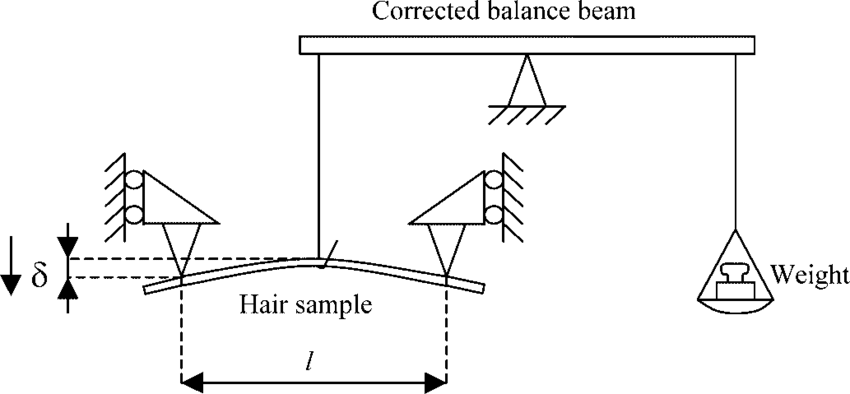 Schematic representation of the set-up for the three-point