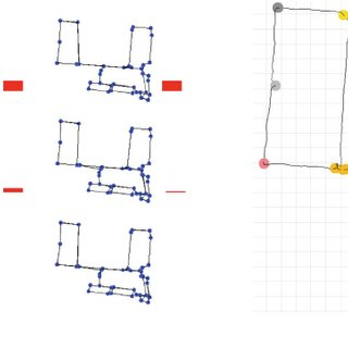 Two topologies with six observations, each corresponding