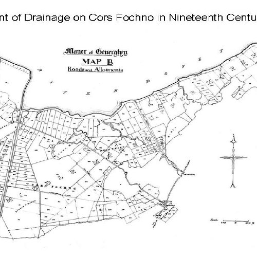 Extent of drainage on Cors Fochno in the nineteenth