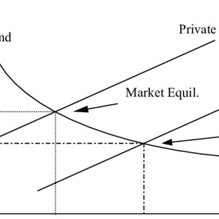 1 Market equilibrium and social optimum with a positive