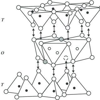 SEM images of clay minerals: (a) pseudohexagonal crystals