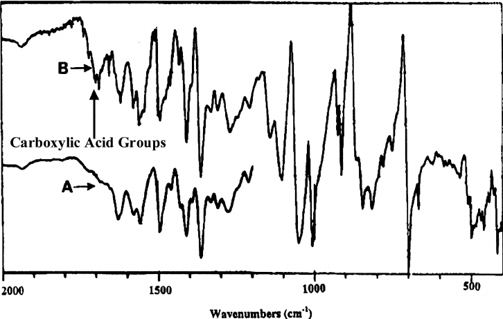 FTIR spectra of PBO samples isolated from methanesulfonic