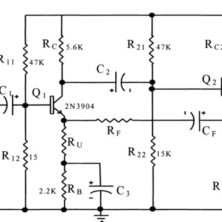 T wo-stage transistor voltage feedback amplifier.1