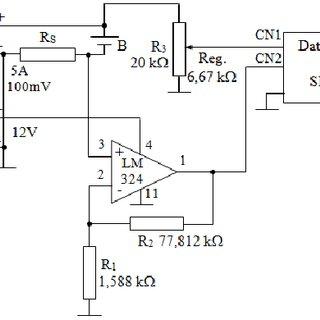 Experimental setup for charging lead acid battery B (12 V