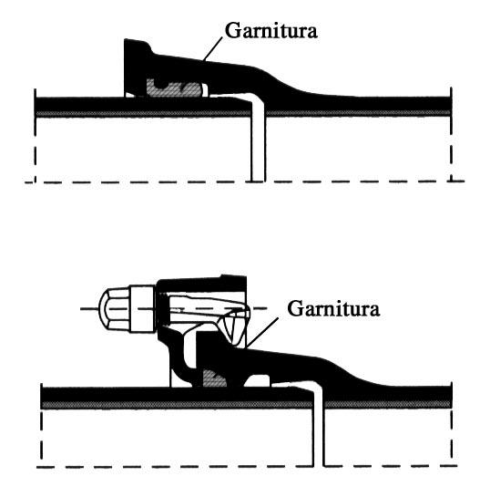 8. Exemple de îmbinări folosite pentru tuburile de fontă