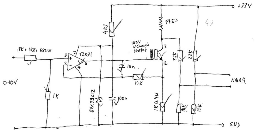 Figure B.2: Point heat source control circuit sketch