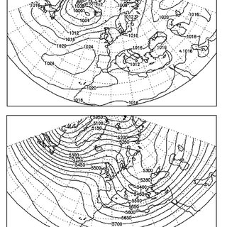 Circulation patterns when westerly flow is intensified