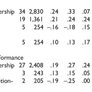 (PDF) Transformational Leadership and Performance Across