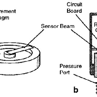 Schematic diagram of pressure transducer. (a) Detail of