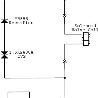 A diagram of the HV trigger circuit for the pulsed valve