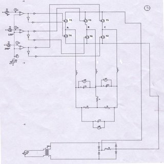Block diagram of current control system of ac converter