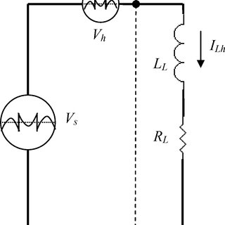 Single-phase equivalent circuit of the harmonic voltages