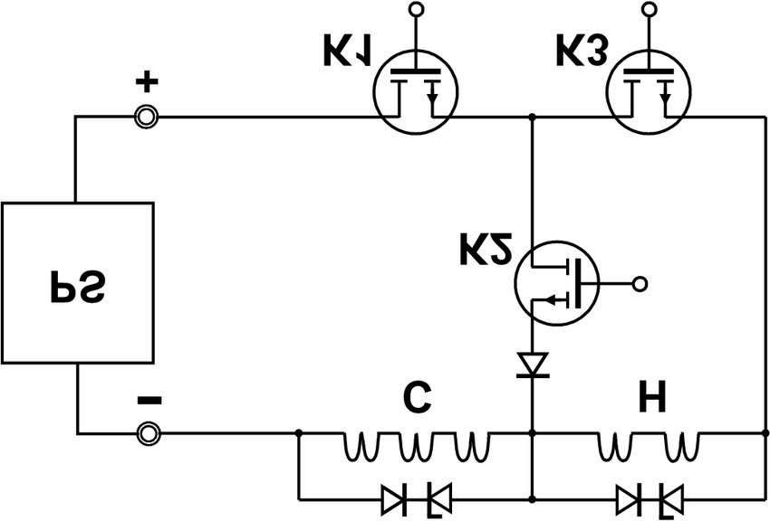 Schematic of the electronic circuit for controlling