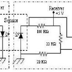 Circuit diagram of the control unit with the four seven