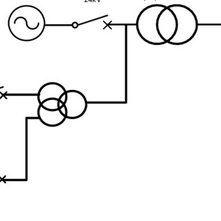 Single line diagram Generator and step up transformer