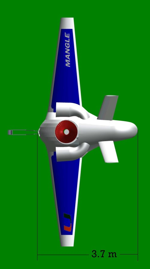 small resolution of mangle top view for takeoff landing with mechanical arm extending out and vectored nozzle bent