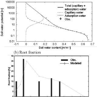 Temporal changes in SOLVEG estimates of cumulative canopy