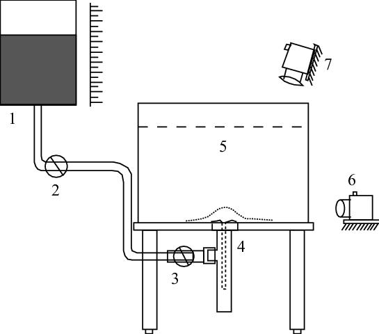 Schematic representation of fountain experimental setup