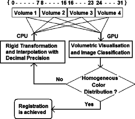 Flow chart of the 3D volumetric image registration process