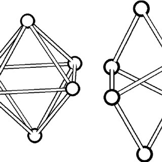 Structure of ice IV. Top: two six-membered rings (formed
