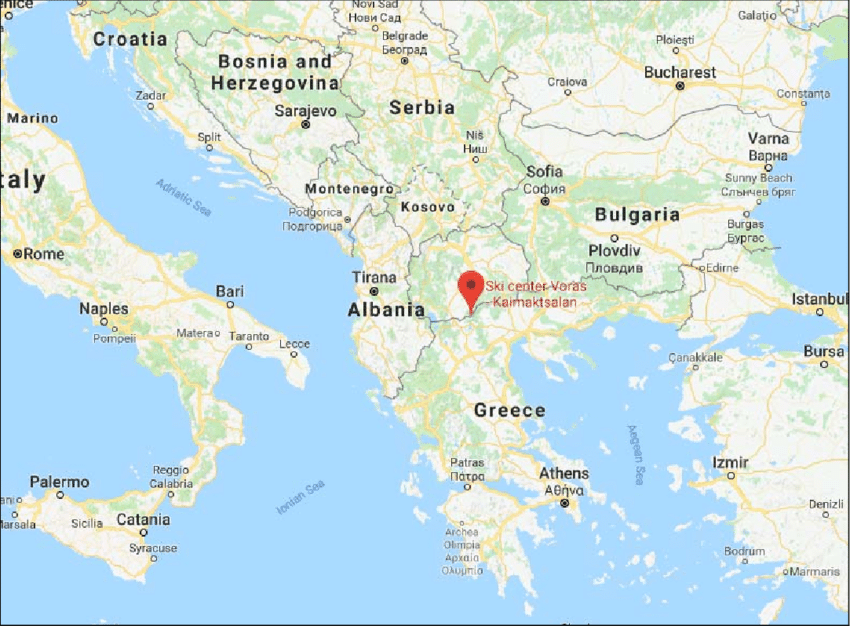 map of greece and