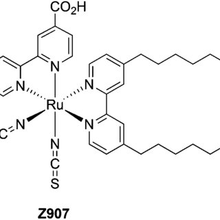 Ru(II) complex Z907 was utilized as a benchmark dye in the