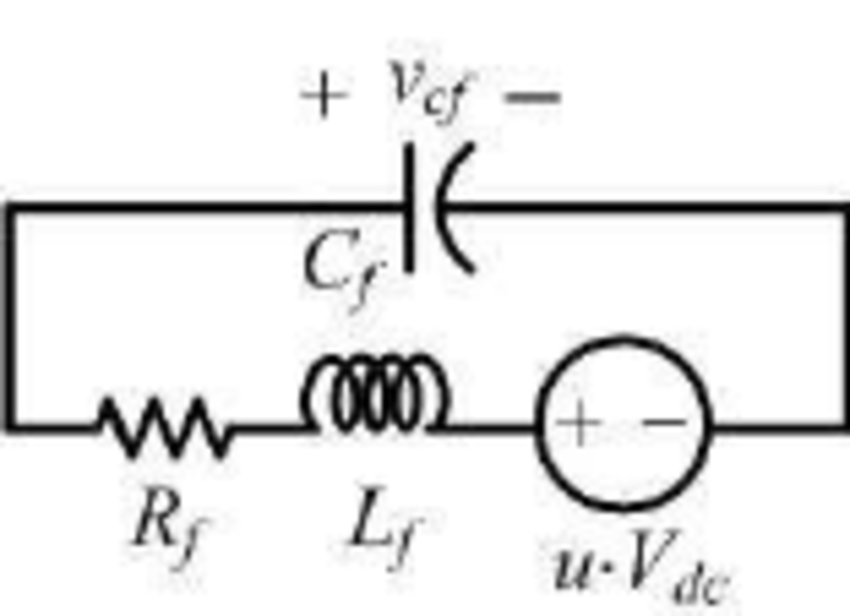 Equivalent circuit of one phase of the converter