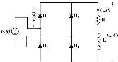 Example Circuit Diagram of Single-phase Diode Rectifier