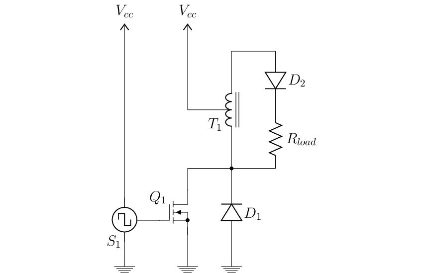 Simplified schematic diagram of the pulse generator