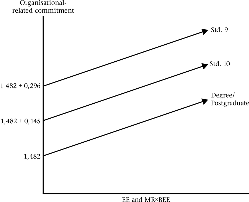 Graphical representation of the predictors of organisation