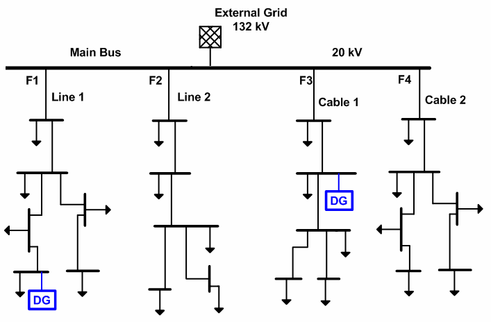 single line diagram of power distribution telephone extension bell wiring the system with installed dgs