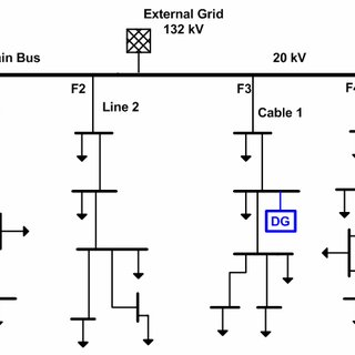 single line diagram of power distribution ignition coil the system with installed dgs