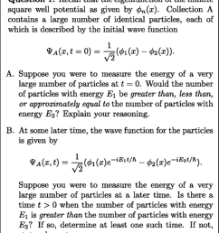a sequence of questions given after all instruction in the sophomore quantum mechanics course similar [ 850 x 988 Pixel ]