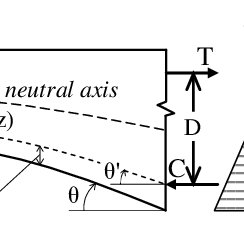 A segment of a variable depth beam, illustrating the main