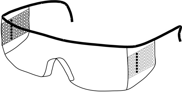 Schematic drawing of the Optical Stimulating Glasses