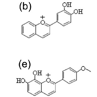 Structural differences between betacyanin (betanidin and