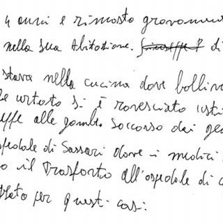 SM's handwriting précis after reading a new report in a