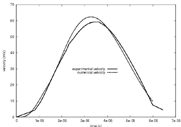 Experimental (solid line) and optimized (dotted line) ring
