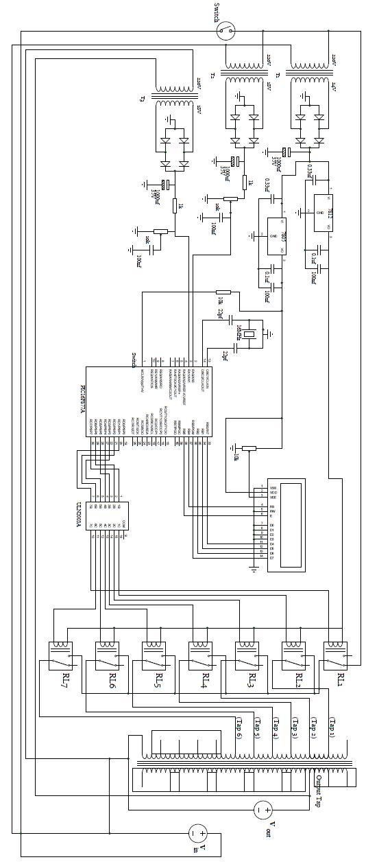 Circuit Diagram of the 5 kVA Microcontroller Based