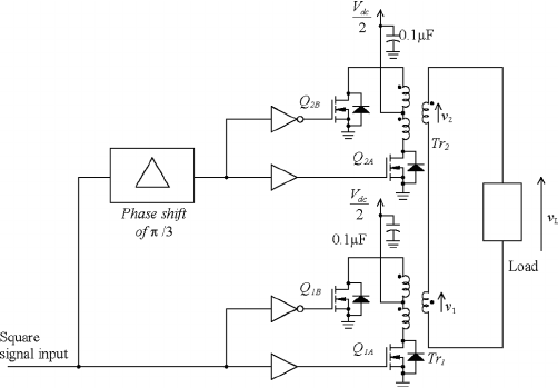 (a) A block diagram showing the generation of switching